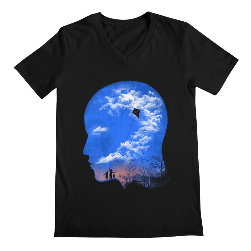 Flying Kite Men's V-Neck by Arrivesatten Artist Shop