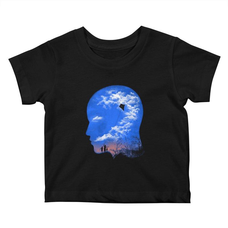 Flying Kite Kids Baby T-Shirt by Arrivesatten Artist Shop