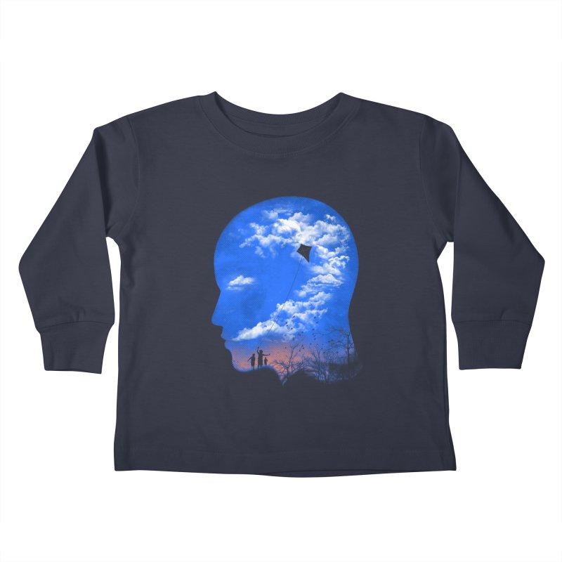 Flying Kite Kids Toddler Longsleeve T-Shirt by Arrivesatten Artist Shop