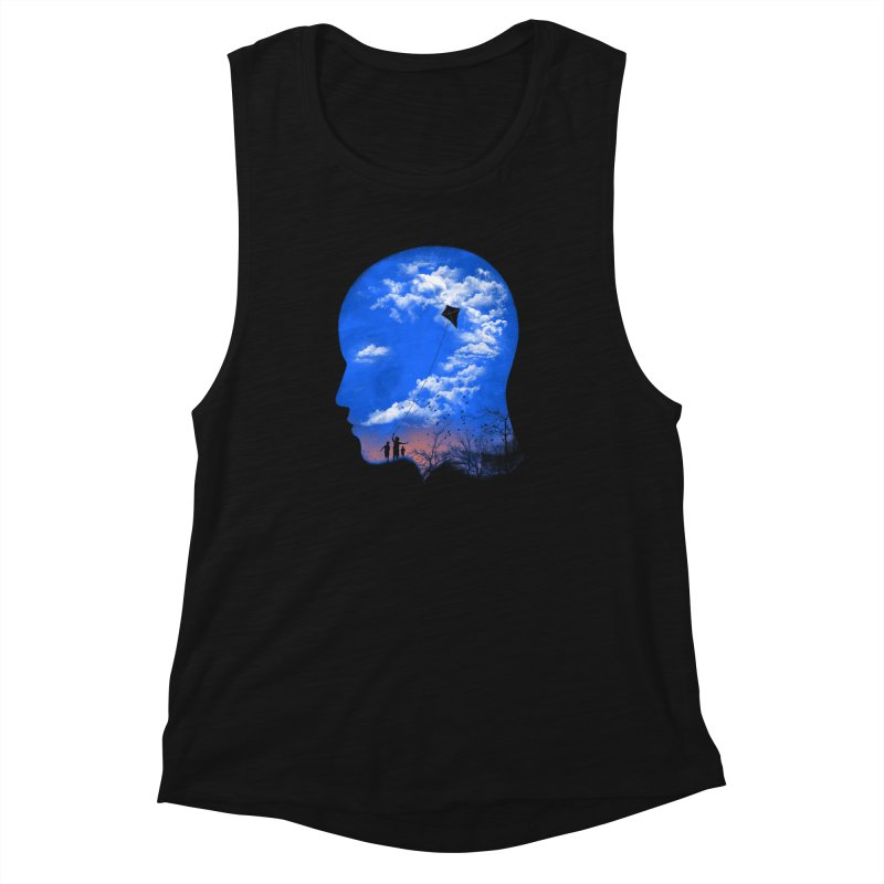 Flying Kite Women's Muscle Tank by Arrivesatten Artist Shop