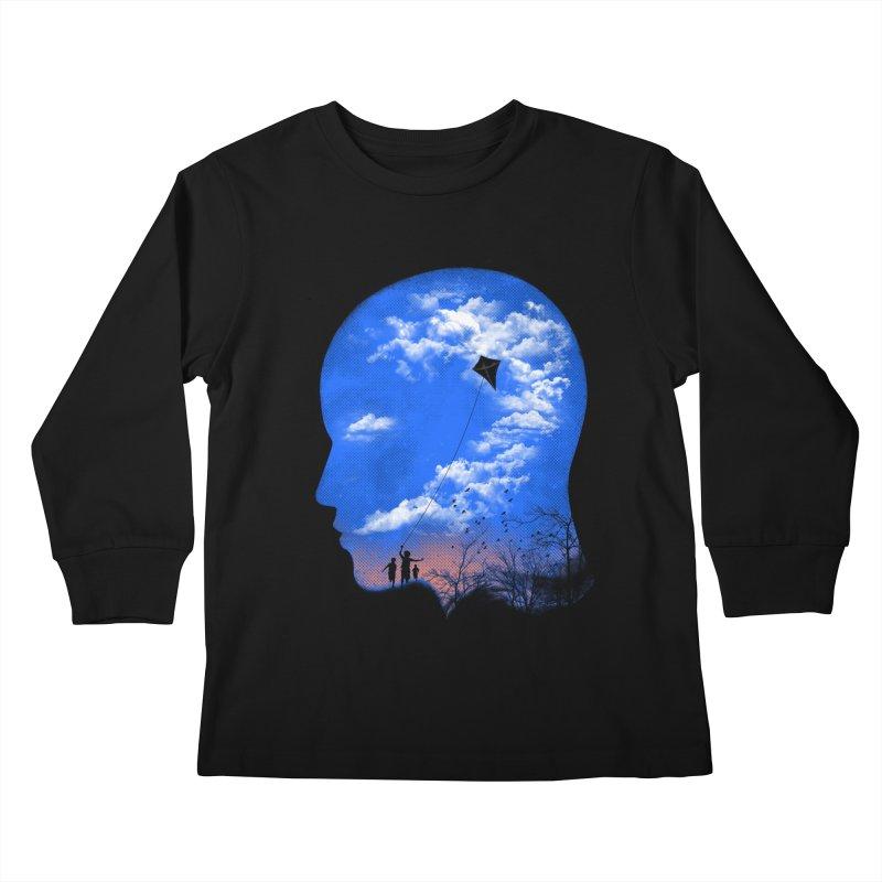 Flying Kite Kids Longsleeve T-Shirt by Arrivesatten Artist Shop