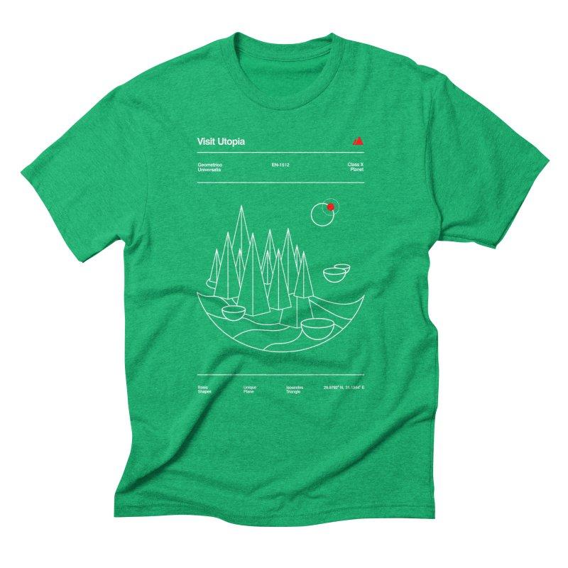 Visit Utopia Men's Triblend T-shirt by Arrivesatten Artist Shop