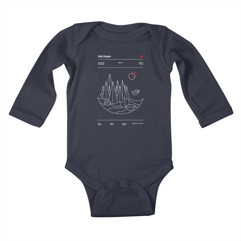 Visit Utopia Kids Baby Longsleeve Bodysuit by Arrivesatten Artist Shop