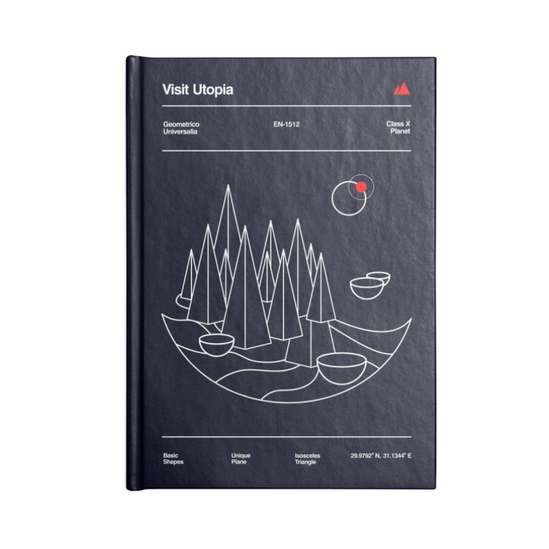Visit Utopia Accessories Notebook by Arrivesatten Artist Shop