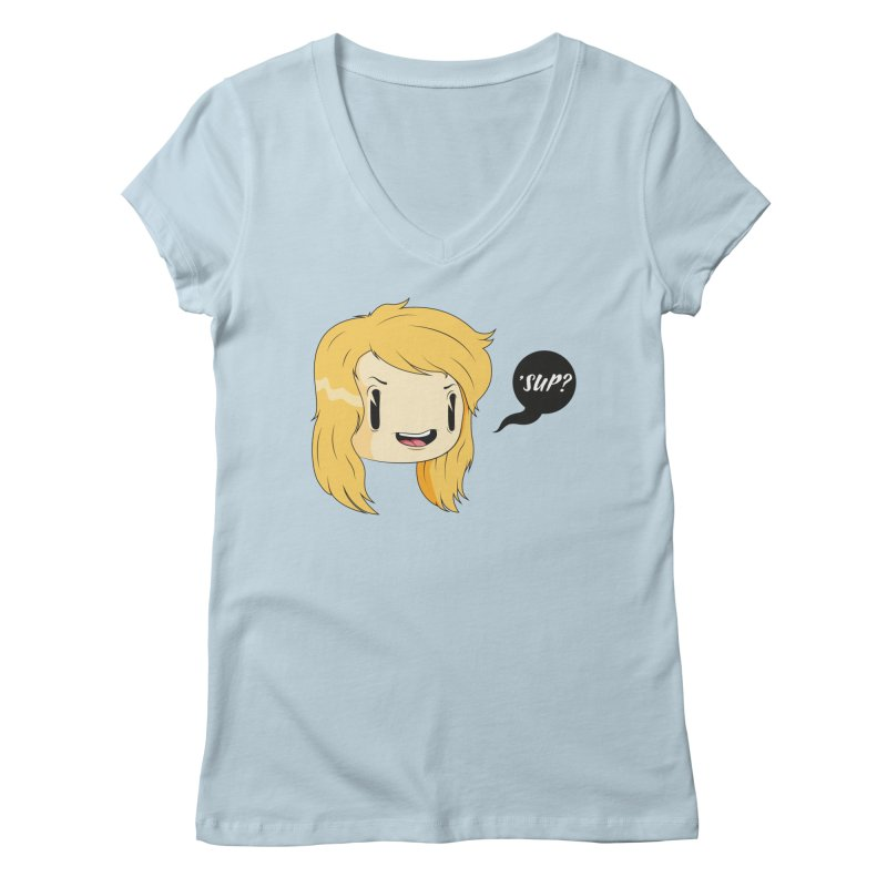 'sup? Women's V-Neck by Rizzofied