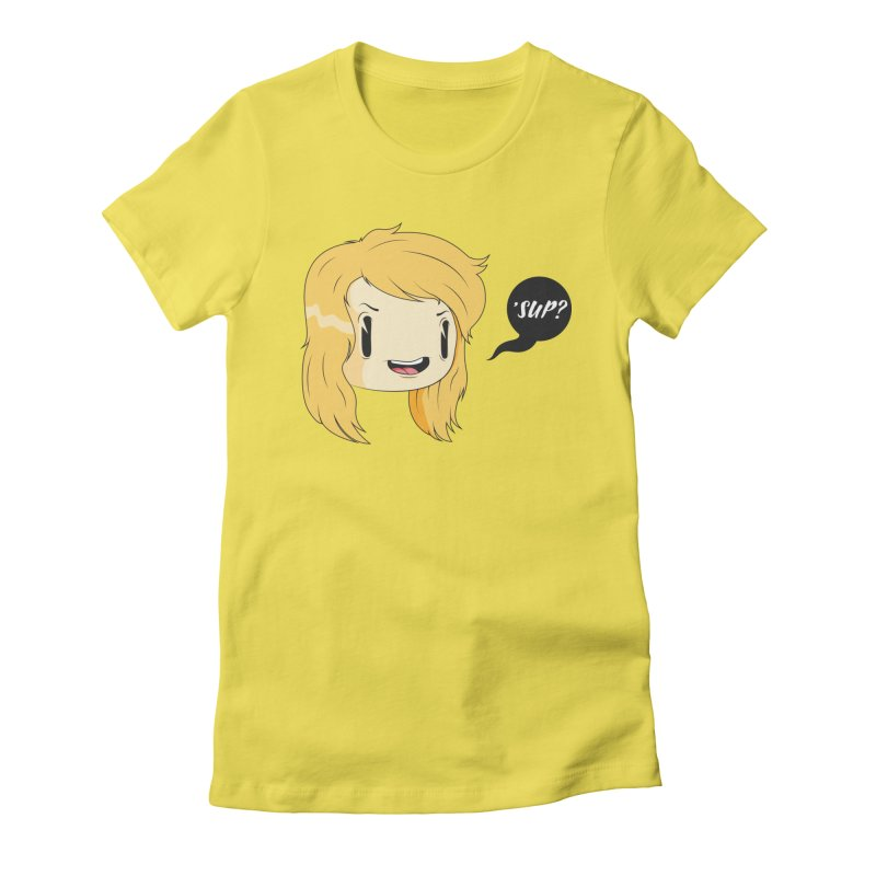 'sup? Women's Fitted T-Shirt by Rizzofied