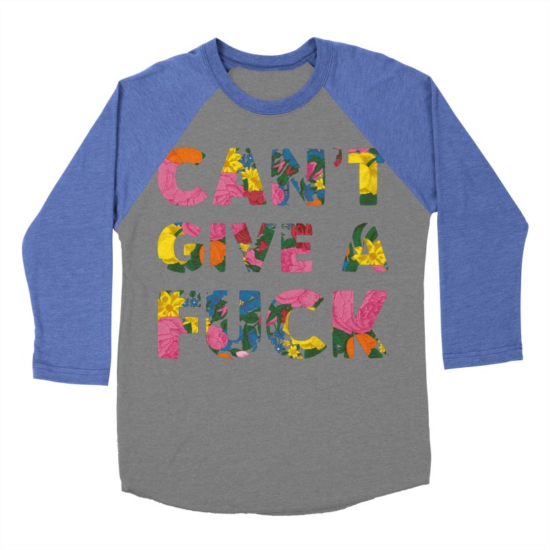 Can't Give A Fuck Men's Baseball Triblend T-Shirt by Rizzofied