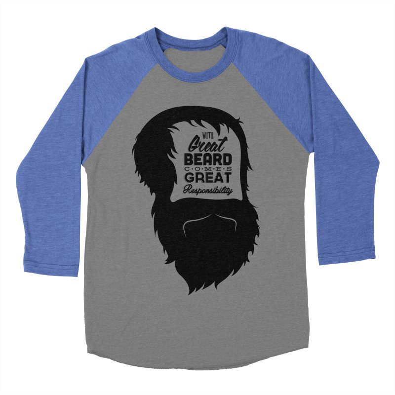 Great Beard Men's Baseball Triblend T-Shirt by Rizzofied
