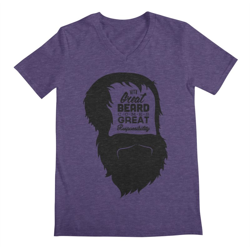 Great Beard Men's V-Neck by Rizzofied