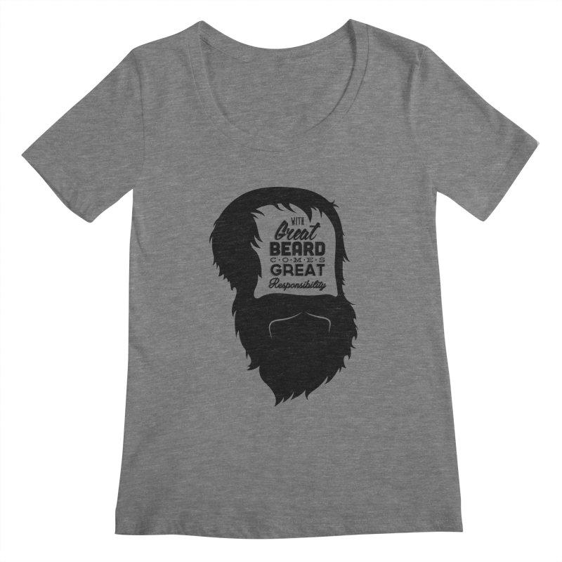 Great Beard Women's Scoopneck by Rizzofied