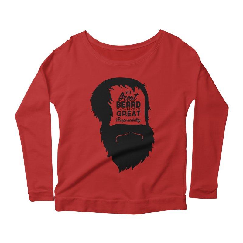 Great Beard Women's Longsleeve Scoopneck  by Rizzofied