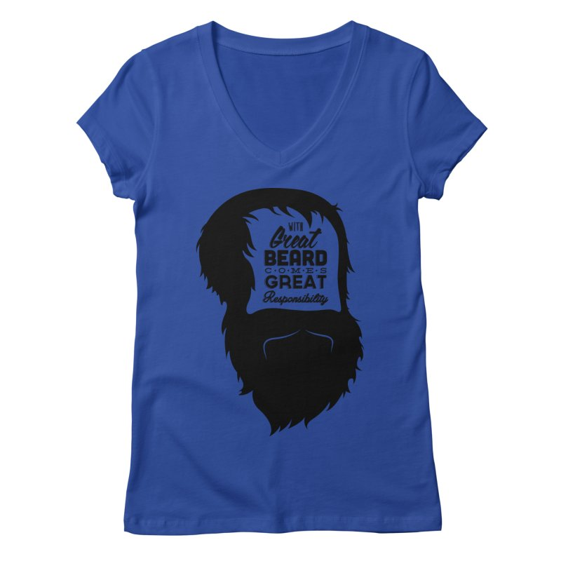 Great Beard Women's V-Neck by Rizzofied