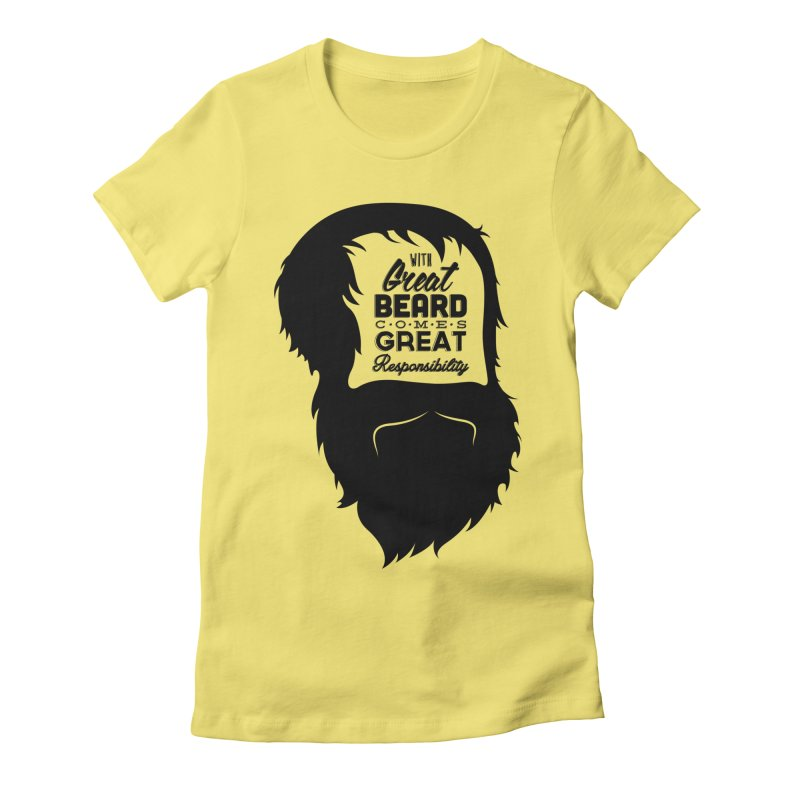Great Beard Women's Fitted T-Shirt by Rizzofied