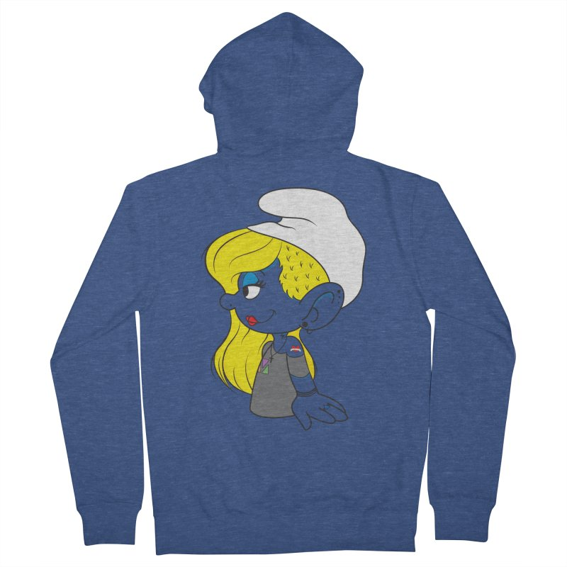 Hipster Smurfette Men's Zip-Up Hoody by Rizzofied