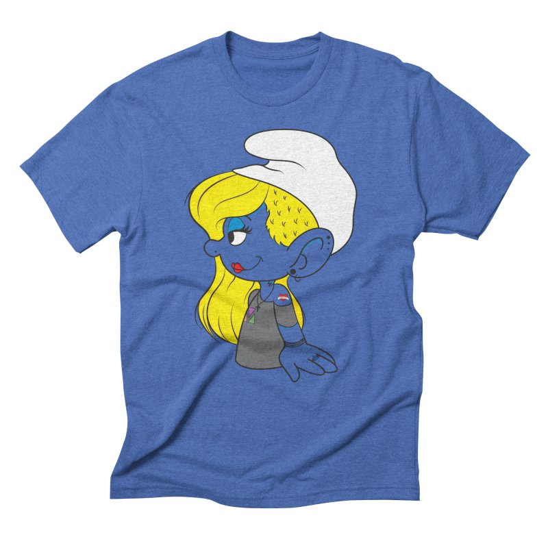 Hipster Smurfette Men's Triblend T-shirt by Rizzofied