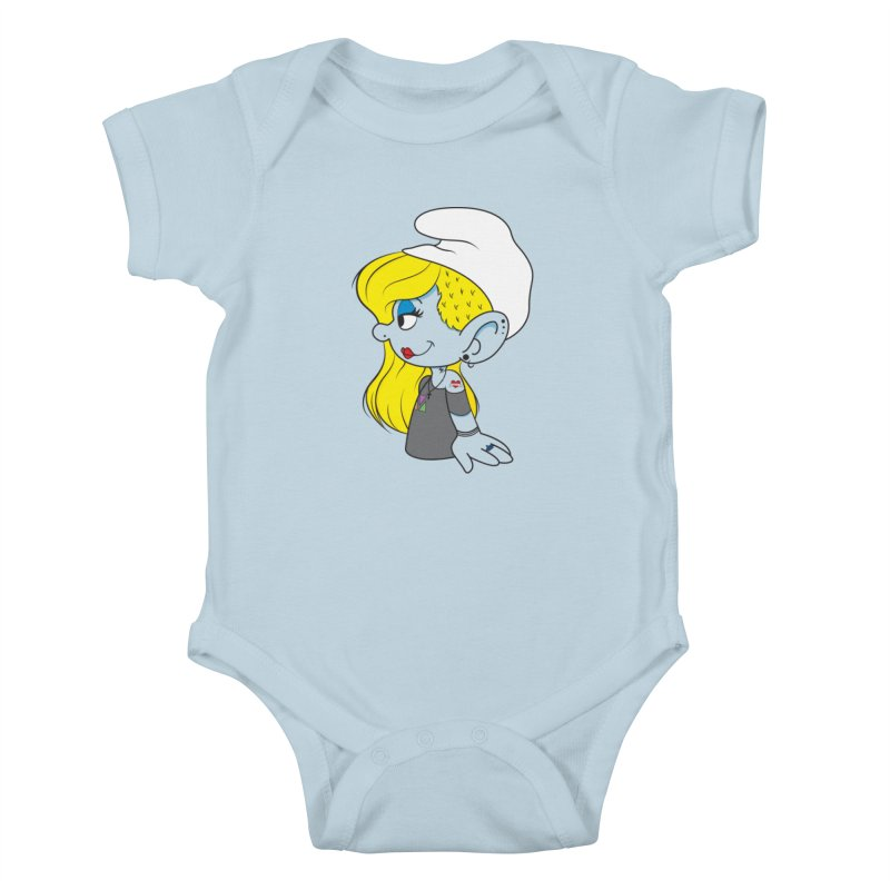 Hipster Smurfette Kids Baby Bodysuit by Rizzofied