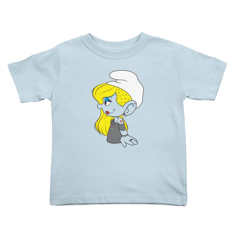 Hipster Smurfette Kids Toddler T-Shirt by Rizzofied