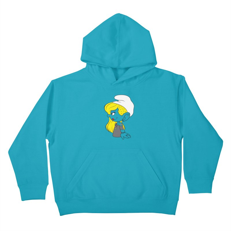 Hipster Smurfette Kids Pullover Hoody by Rizzofied