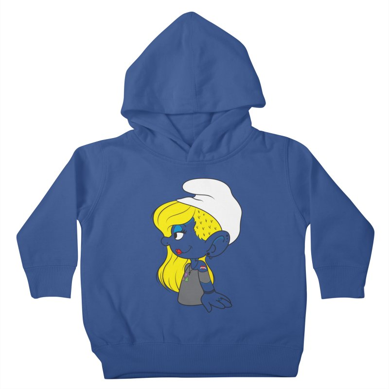 Hipster Smurfette Kids Toddler Pullover Hoody by Rizzofied