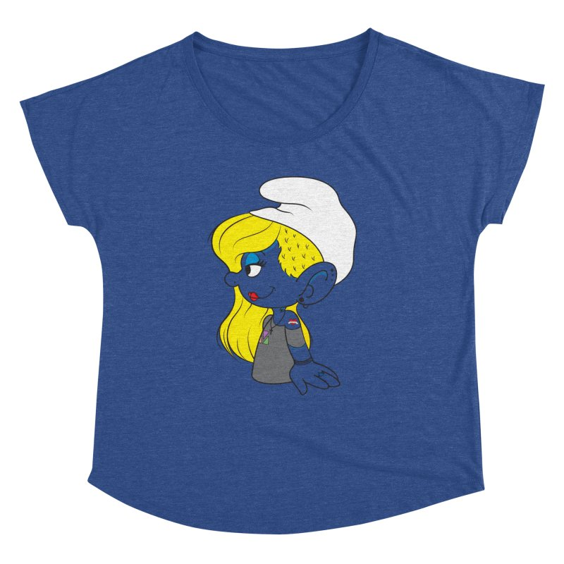 Hipster Smurfette Women's Dolman by Rizzofied