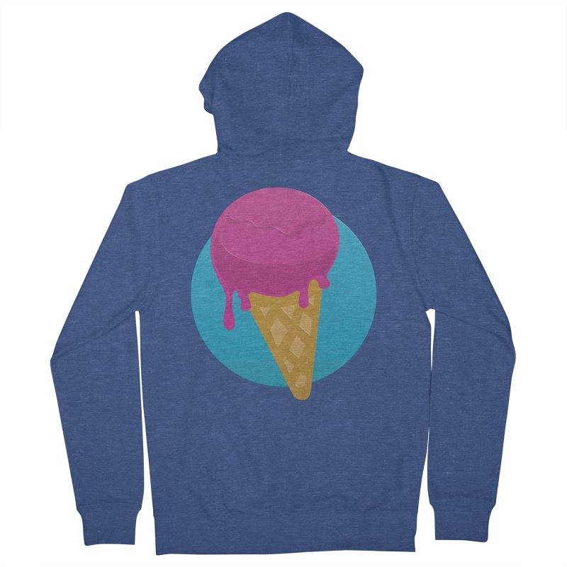 Ice Cream Cone Men's Zip-Up Hoody by Rizzofied