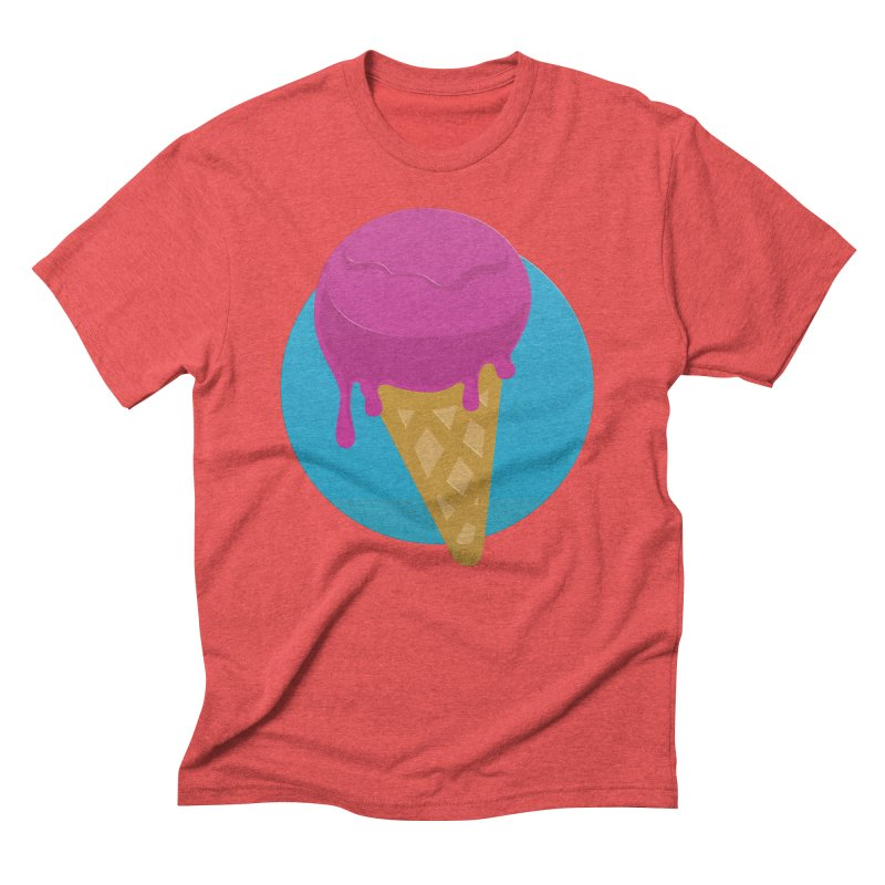 Ice Cream Cone Men's Triblend T-shirt by Rizzofied