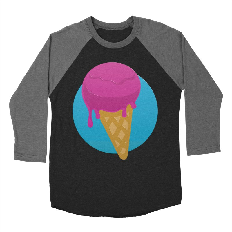 Ice Cream Cone Women's Baseball Triblend T-Shirt by Rizzofied