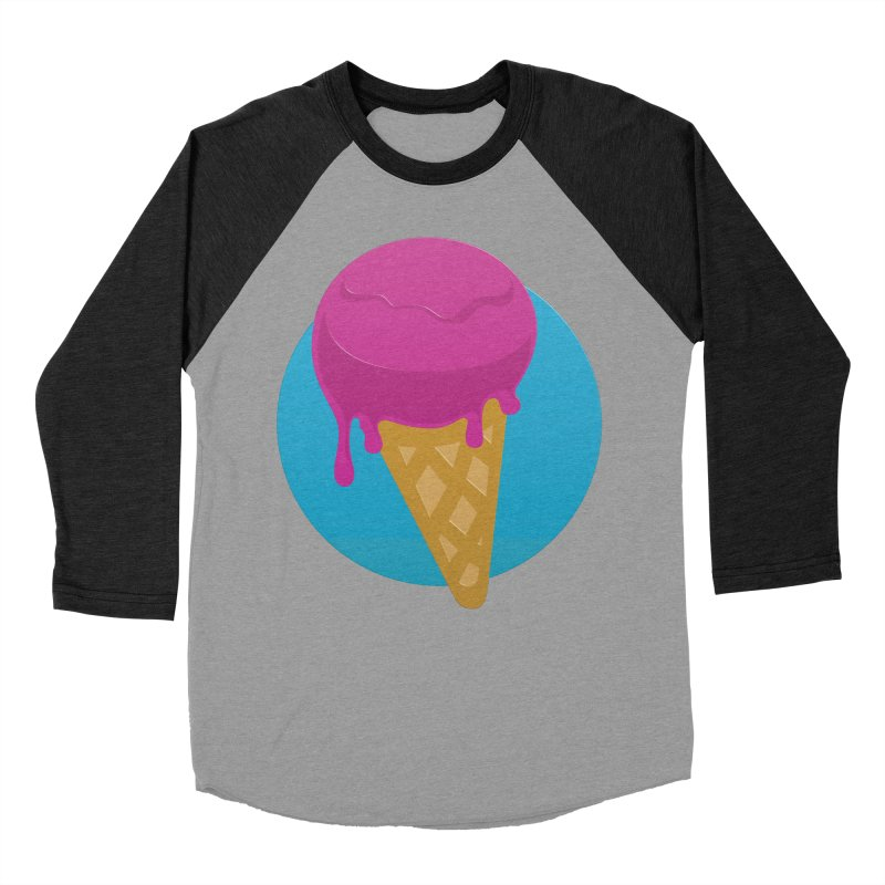 Ice Cream Cone Men's Baseball Triblend T-Shirt by Rizzofied