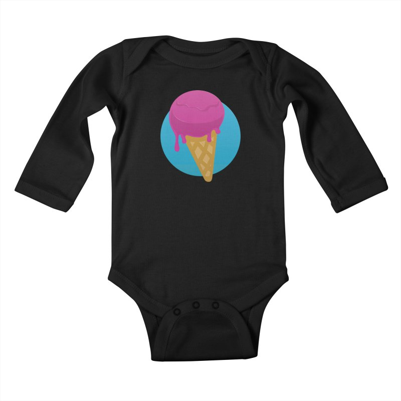 Ice Cream Cone Kids Baby Longsleeve Bodysuit by Rizzofied