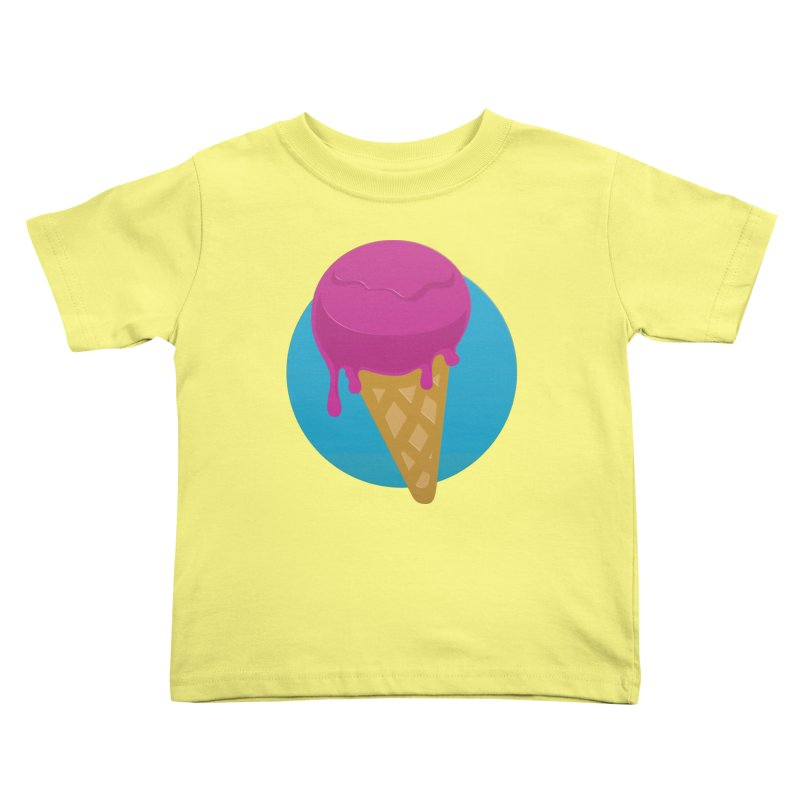 Ice Cream Cone Kids Toddler T-Shirt by Rizzofied