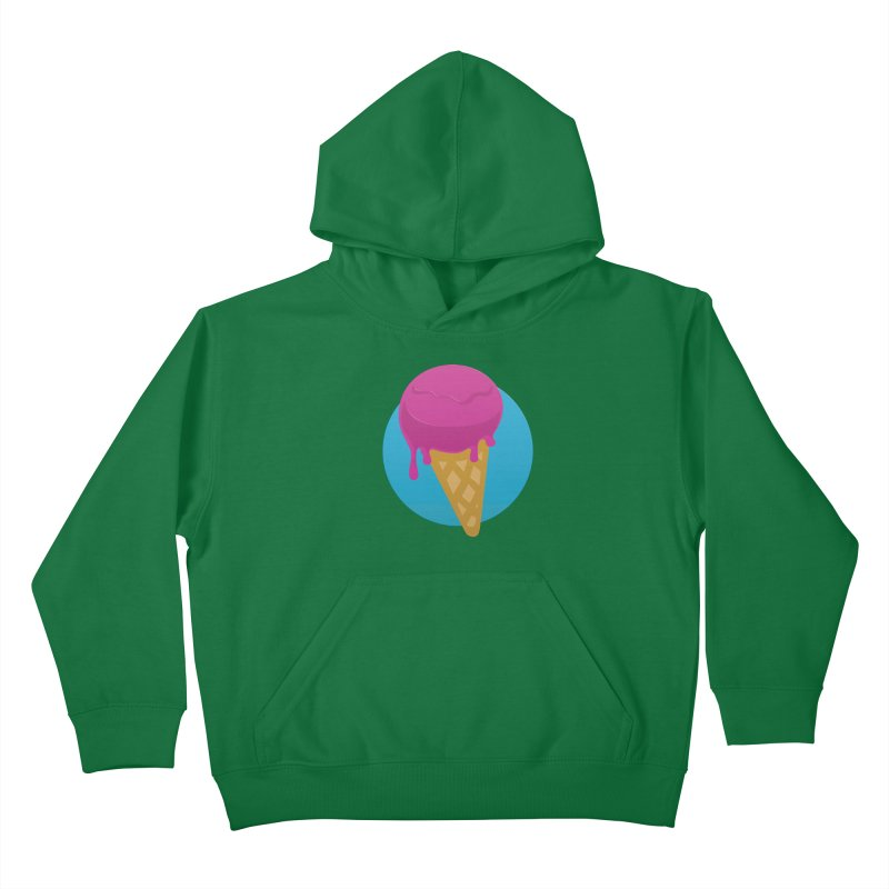 Ice Cream Cone Kids Pullover Hoody by Rizzofied