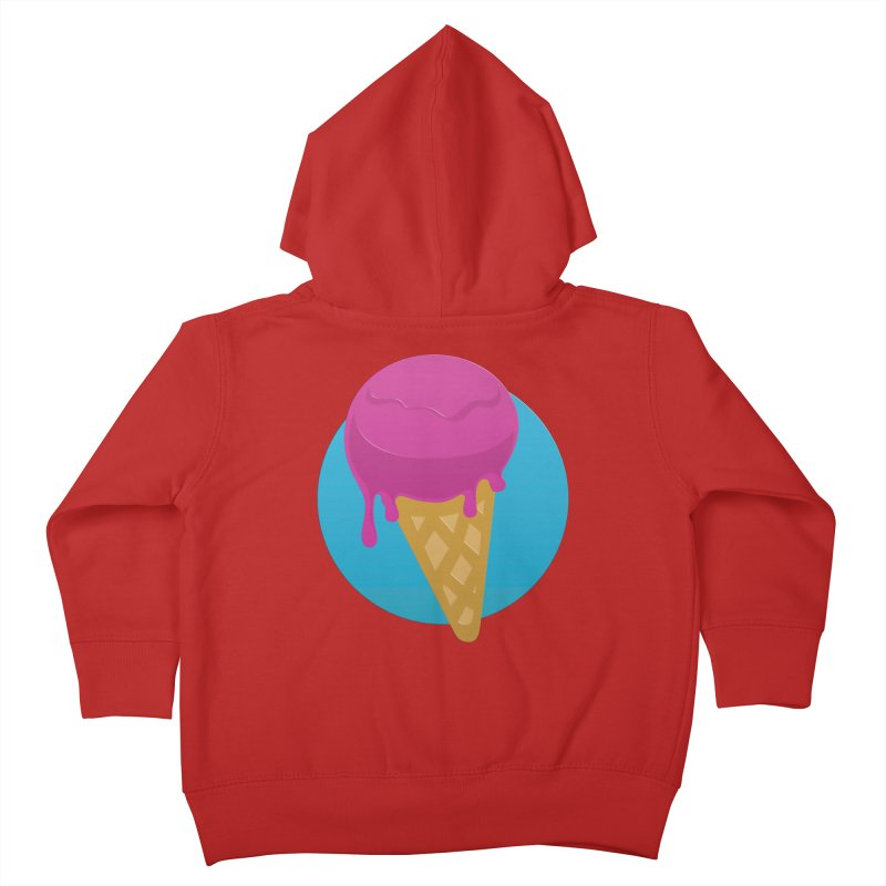 Ice Cream Cone Kids Toddler Zip-Up Hoody by Rizzofied
