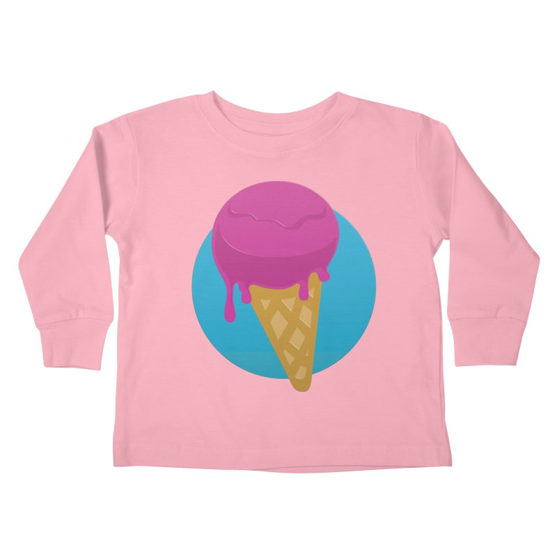 Ice Cream Cone Kids Toddler Longsleeve T-Shirt by Rizzofied