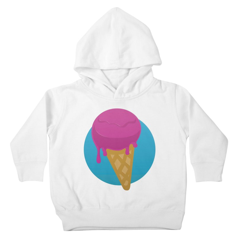 Ice Cream Cone Kids Toddler Pullover Hoody by Rizzofied