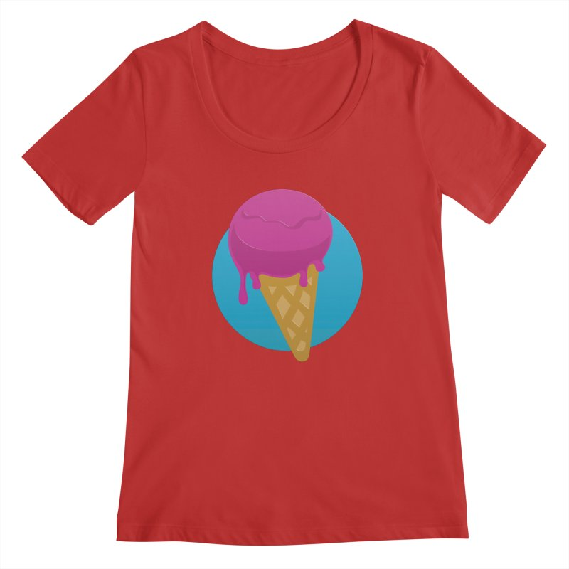 Ice Cream Cone Women's Scoopneck by Rizzofied