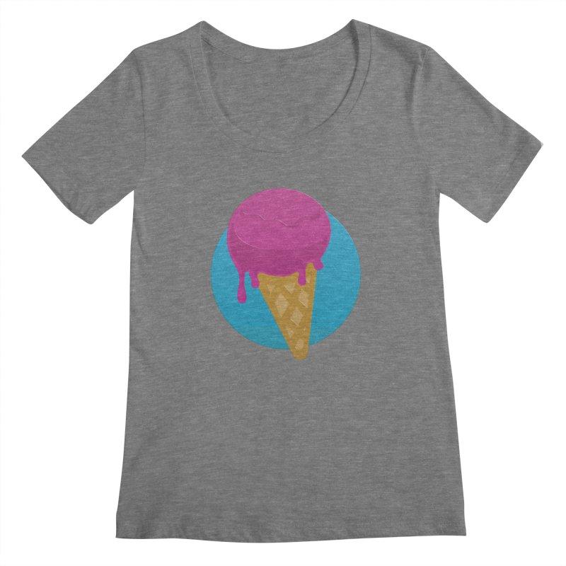 Ice Cream Cone Women's Scoopneck by Rizzofied