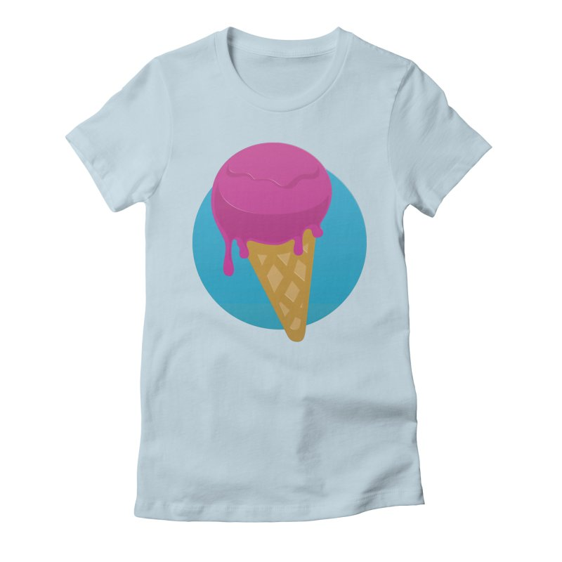 Ice Cream Cone Women's Fitted T-Shirt by Rizzofied