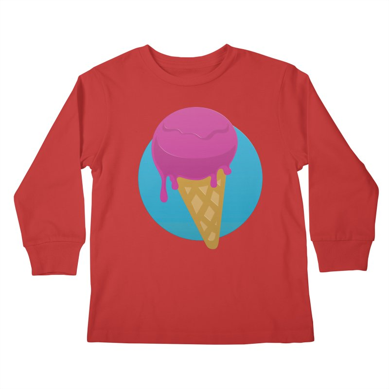 Ice Cream Cone Kids Longsleeve T-Shirt by Rizzofied