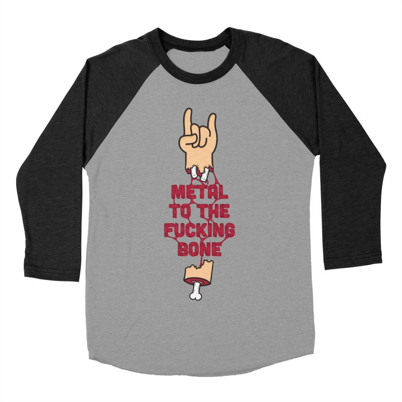 Metal to the Bone Men's Baseball Triblend T-Shirt by Rizzofied
