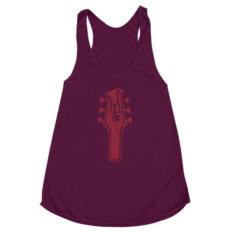 Metal Head! Women's Racerback Triblend Tank by Rizzofied