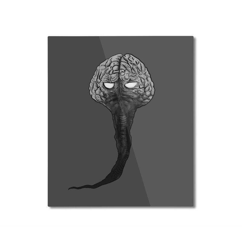 Brain from other World Home Mounted Aluminum Print by Pigment World Artist Shop
