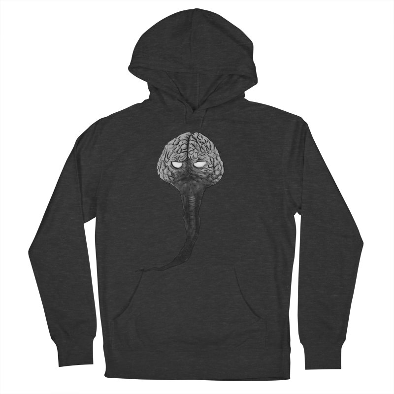 Brain from other World Men's French Terry Pullover Hoody by Pigment World Artist Shop