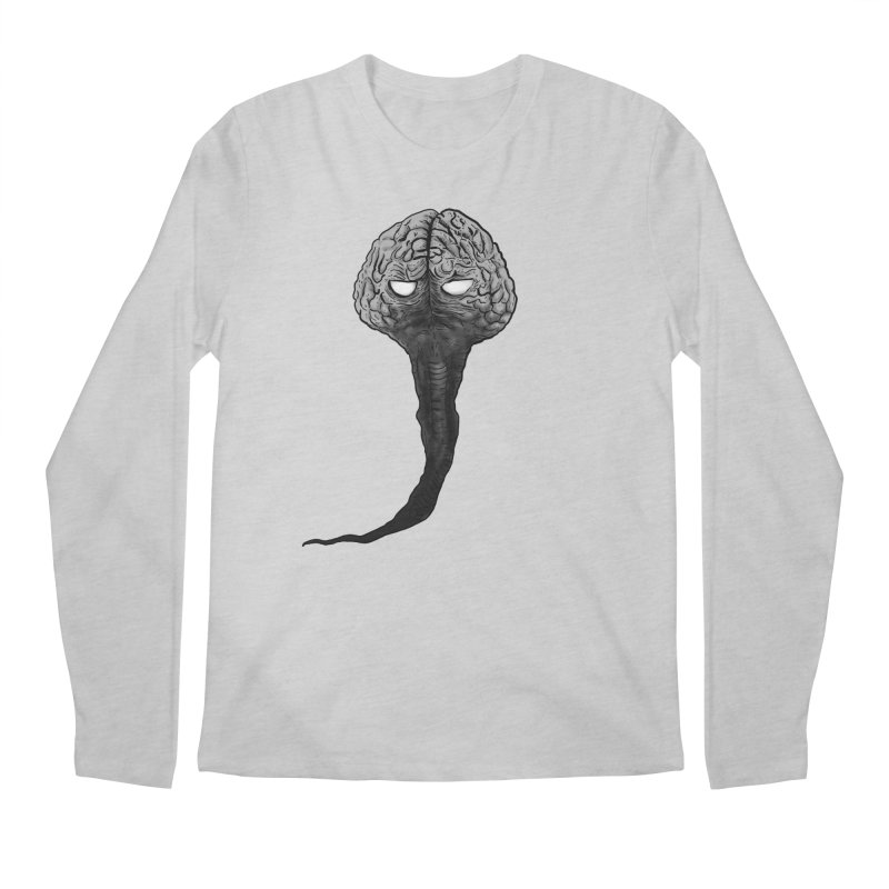 Brain from other World Men's Regular Longsleeve T-Shirt by Pigment World Artist Shop