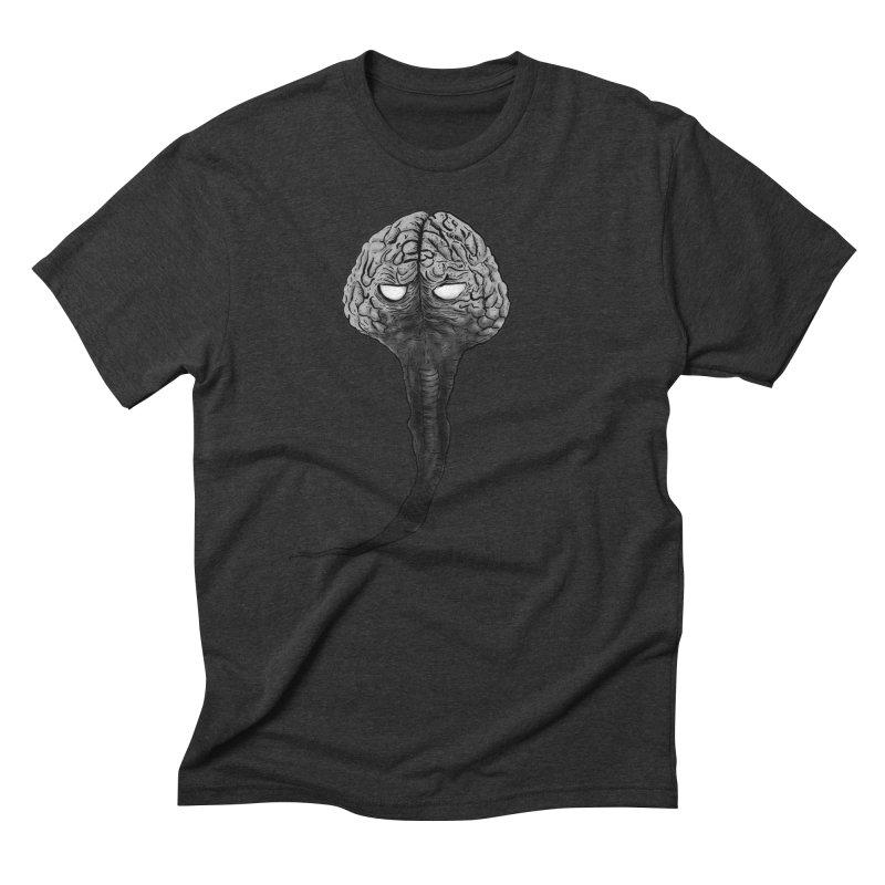 Brain from other World Men's Triblend T-Shirt by Pigment World Artist Shop