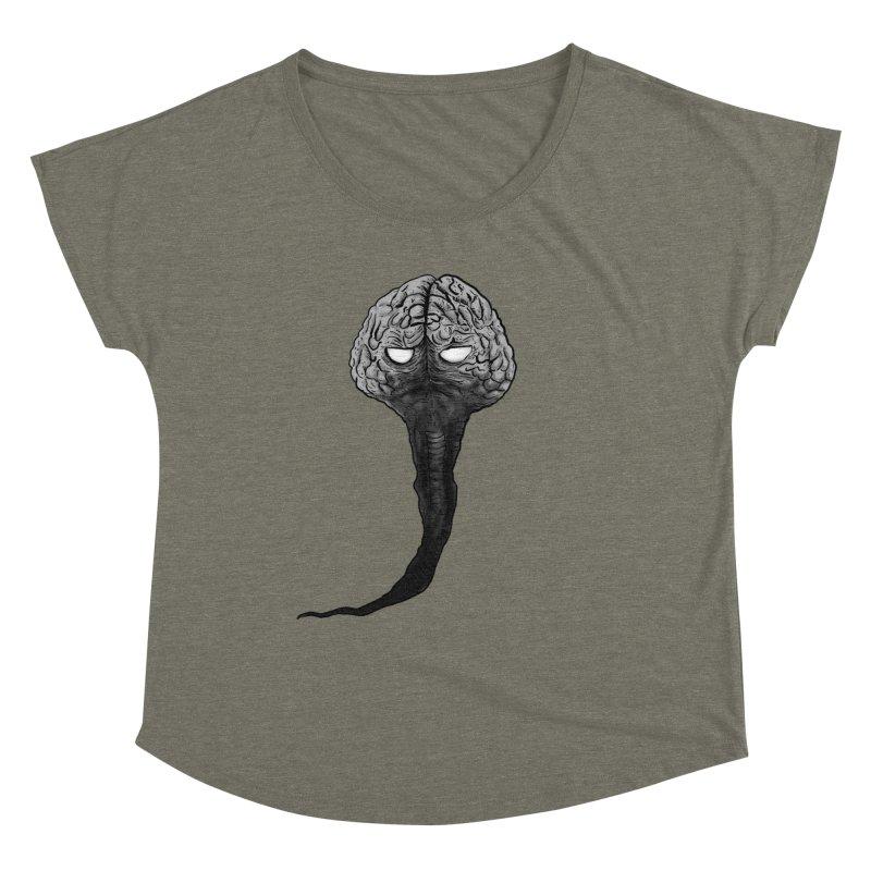 Brain from other World Women's Dolman Scoop Neck by Pigment World Artist Shop