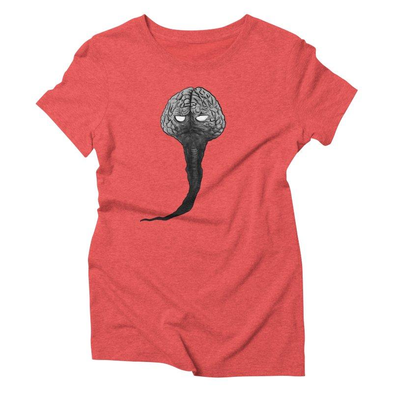 Brain from other World Women's Triblend T-Shirt by Pigment World Artist Shop