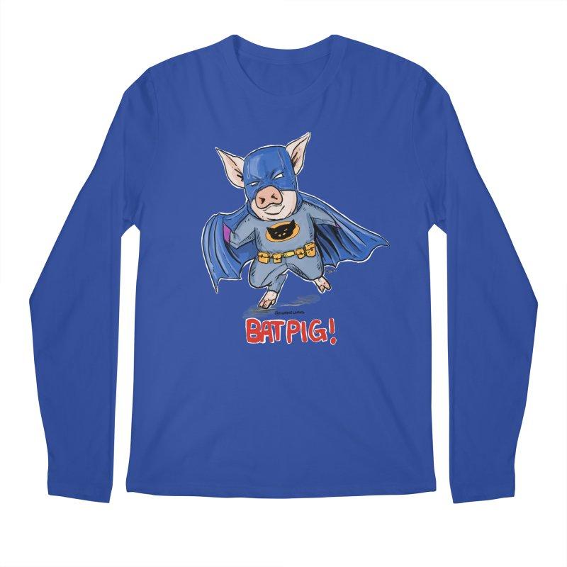 BatPig Men's Regular Longsleeve T-Shirt by Pigment World Artist Shop