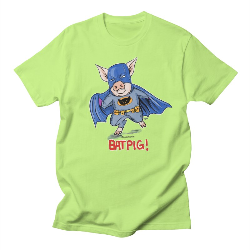BatPig Men's T-Shirt by Pigment World Artist Shop
