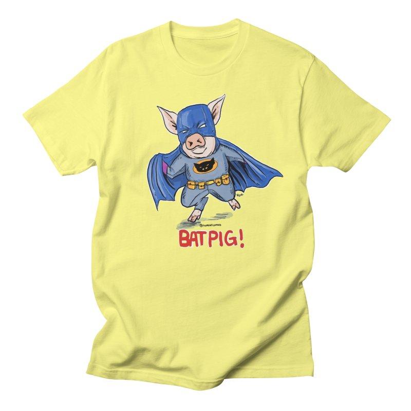 BatPig Men's T-shirt by rjamadoart's Artist Shop