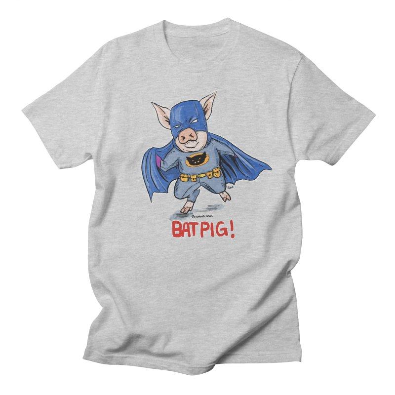 BatPig Men's Regular T-Shirt by Pigment World Artist Shop